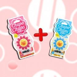 CHUPA CHUPS ซิลิโคนหอมติดช่องแอร์ ดอกไม้ Vanilla + Strawberry Cream